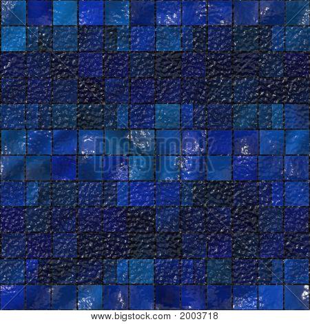 Blue Artistic Tile Mosaic