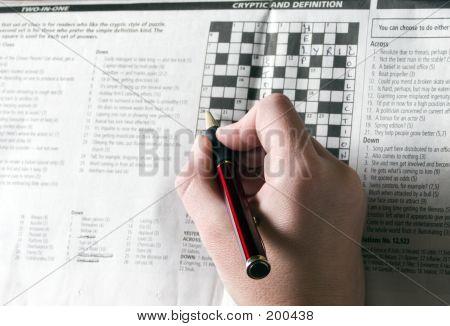 Filling In A Crossword