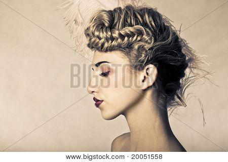 Beautiful Blond Fashion Model.