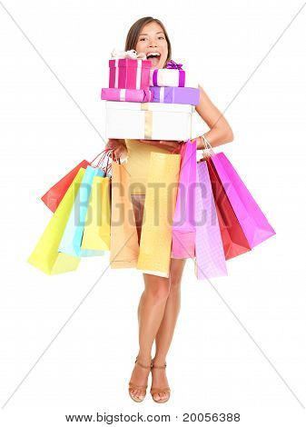 Shopaholic Shopping Woman
