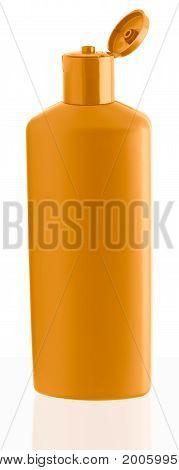 Orange Shampoo Bottle