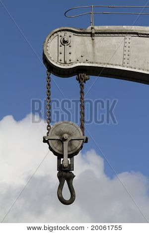Close Up Of Fairbairn Steam Crane,bristol Docks,uk
