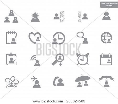 head hunting related vector line icons contains such icons as