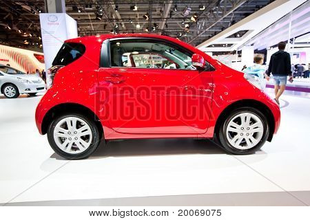 Moscow, Russia - August 25:  Red Car Tayota Iq At Moscow International Exhibition Interauto On Augus