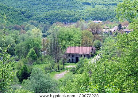 View Of Bulgarian Village