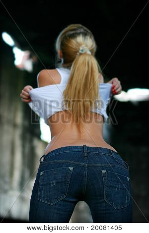 Blond Girl In Jeans