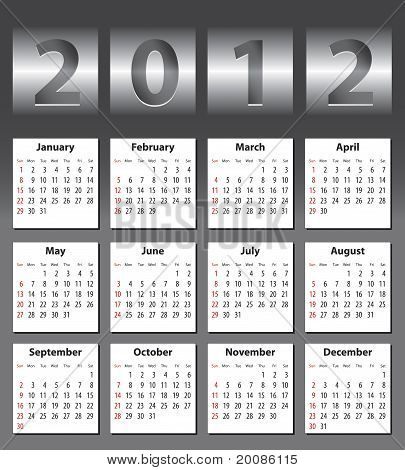Stylish Calendar For 2012