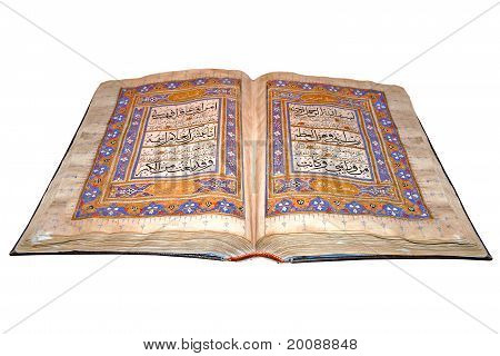 Book Koran Opened And Isolated