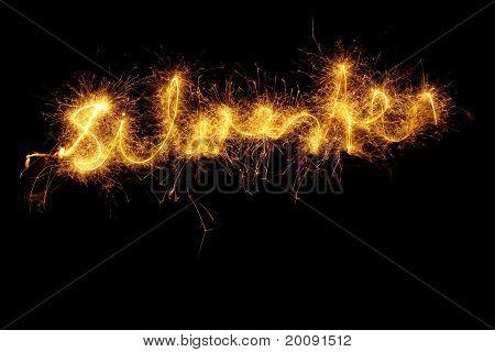 Sparkler Forming Word