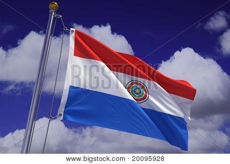 Waving Paraguayan Flag
