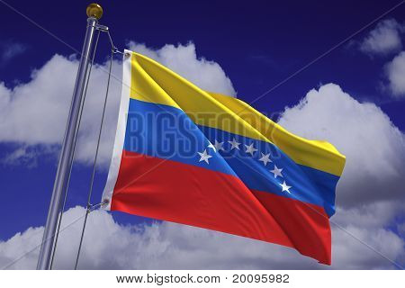 Waving Venezuelan Flag