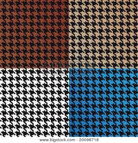 Variedade de Houndstooth padrão vetorial sem costura