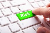 foto of fail-safe  - risk management concept with word on key showing risky investment - JPG