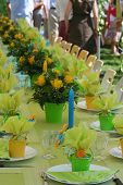 foto of birthday party  - Garden party table a celebration with family - JPG