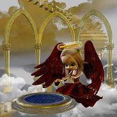 Постер, плакат: Aiema зимняя Ангел