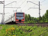 stock photo of chug  - the image of a Going electric train - JPG