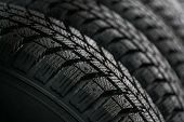 Protector Of Automobile Tires. A Number Of Automobile Tires poster