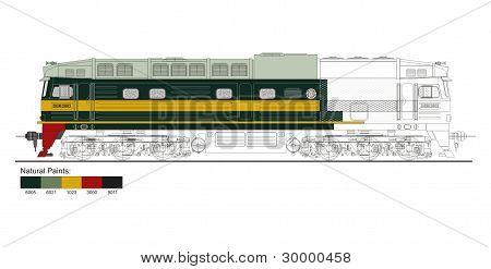 Iraqi Locomotive Engine