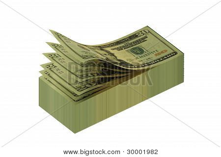 Dollars In The Form Of A Scratch Paper