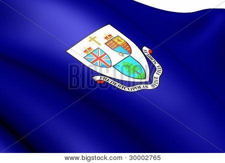 Bandera de Fredericton, Canadá.