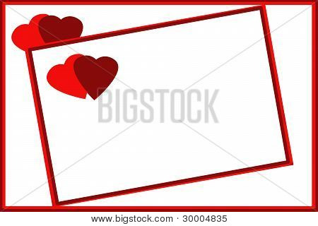 Romantic Gift Cards With Pair Of Hearts