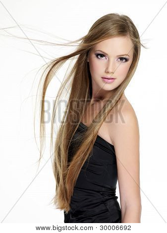 schön schönheit sinnlichkeit Teenager Mädchen mit langen Haaren