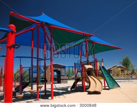 Shaded Tot Lot Or Playground Equipment