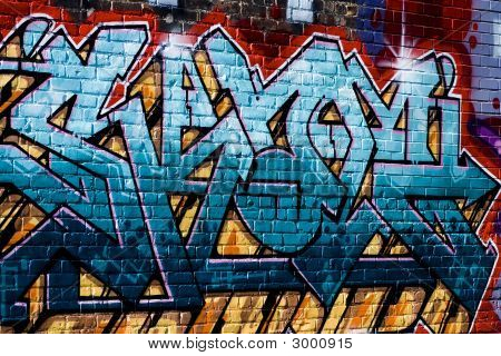 Graffiti-Painted Wall