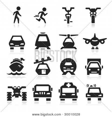 Transport Icons set Eegant Serie