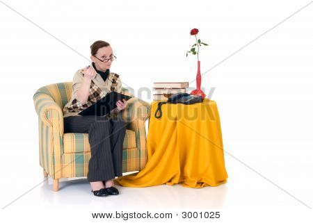 Businesswoman Working Home