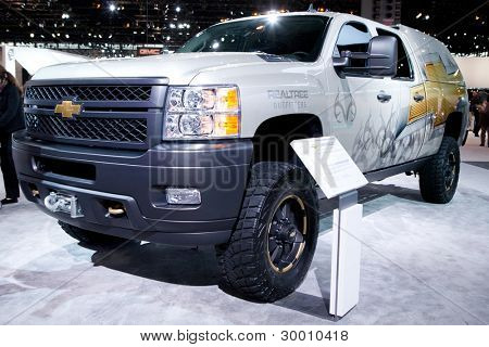 CHICAGO - FEB 12: The 2013 Chevrolet Silverado on display at the 2012 Chicago Auto Show. February 12, 2012 in Chicago, Illinois.