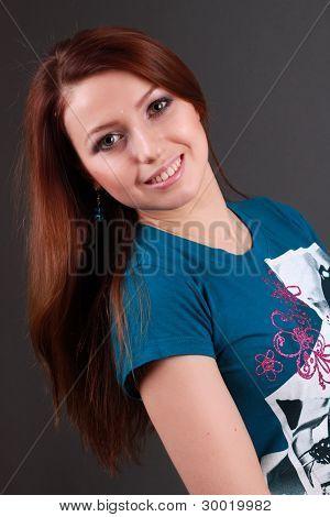 lovely smiling girl