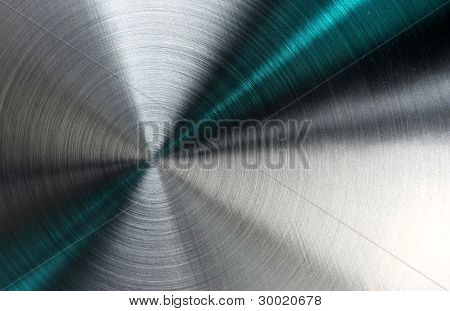 Abstract Metallic Texture With Blue Rays.