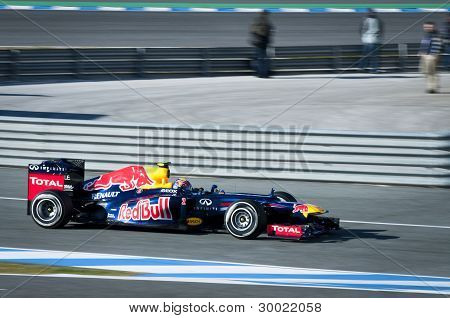 Mark Webber F1 Test Jerez 2012