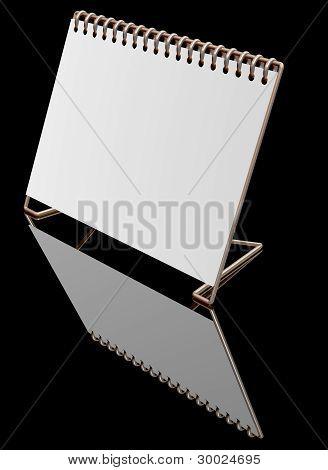 Gold Desktop blank calendar