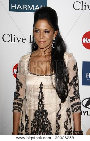LOS ANGELES - FEB 11:  Sheila E arrives at the Pre-Grammy Party hosted by Clive Davis at the Beverly Hilton Hotel on February 11, 2012 in Beverly Hills, CA