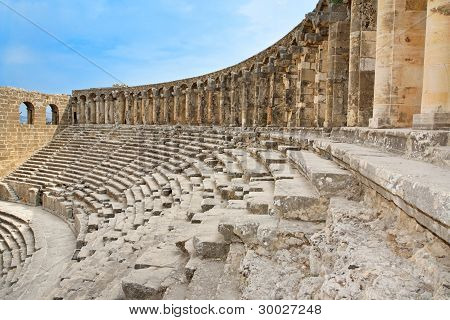 Ancient Roman Amphitheater Aspendos.