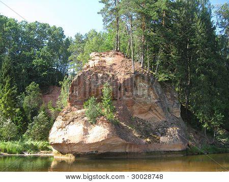 Zvarta rock near Amata river