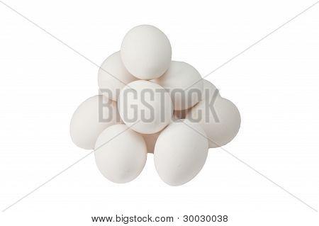 Pyramid Of White Eggs