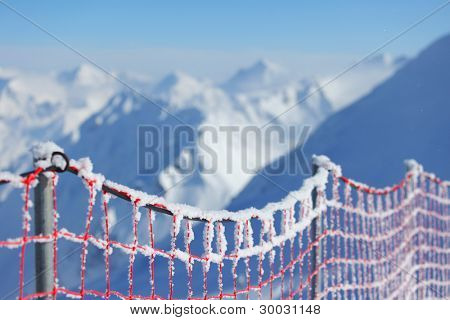 protective network to the alpine skiing track
