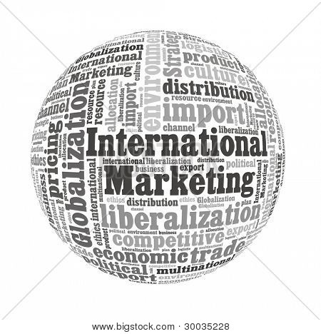 International Marketing Concept in Word Collage