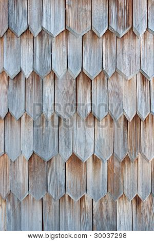 Detail Of Wooden Shingle