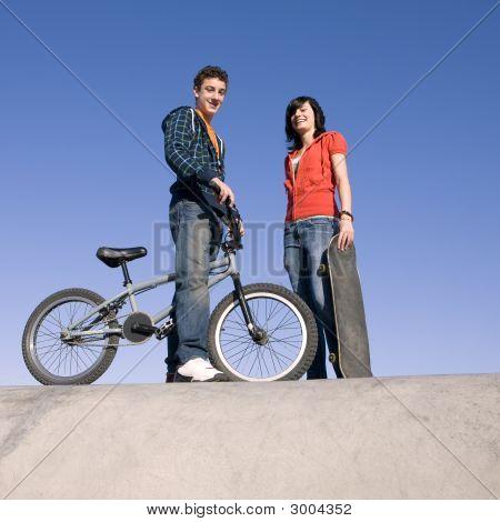 Teens At Skatepark