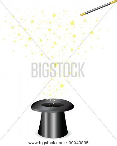 Vector - varinha mágica e o chapéu