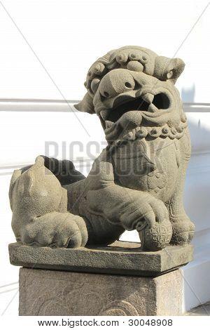 Lion stucco