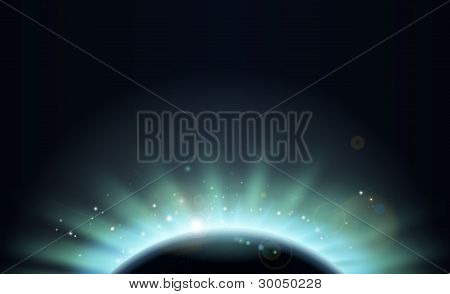 Eclipse Sun Planet Background Illustration