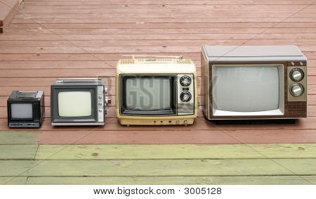 Tv Family On Old Deck