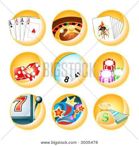 Casino Games Icon-Set