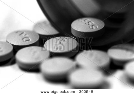 Spilled Pills B & W