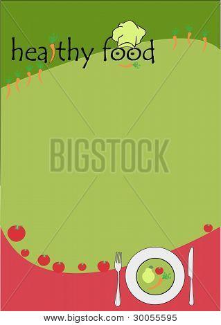 menu for healthy food